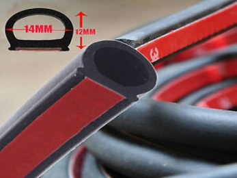 D shaped container rubber door seal strip